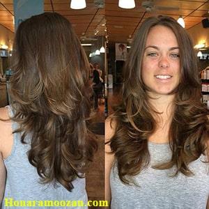 مدل کوتاهی مو آبشاری