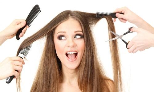 کوتاهی مو و نمایش وسایل مختلف برای کوتاهی موی بانوان