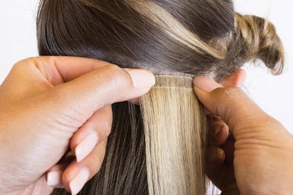 انواع اکستنشن مو چسبی