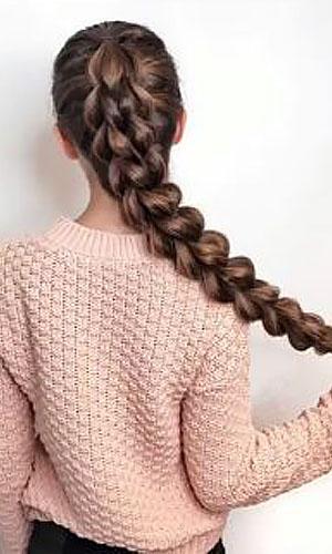 بافت مو چهارتایی پهن