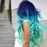 آبی کردن مو