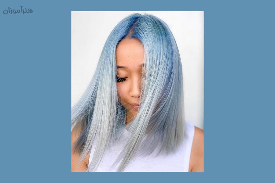 رنگ موی دودی آبی