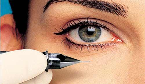 رنگ نگرفتن تاتو تاتو خط چشم | مزایای تاتوی خط چشم | آموزشگاه آرایشگری هنر ...