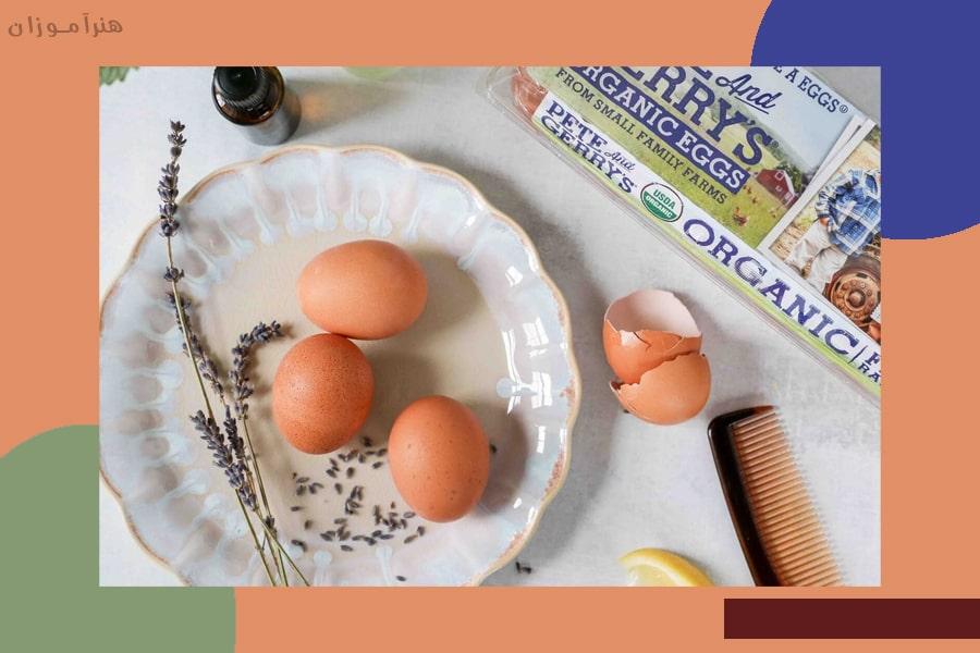 صاف کردن مو با تخم مرغ