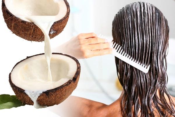 صاف کردن مو با شیر نارگیل