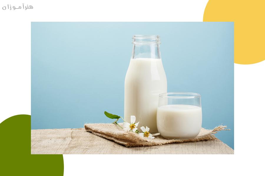 استفاده از شیر برای صاف کردن مو