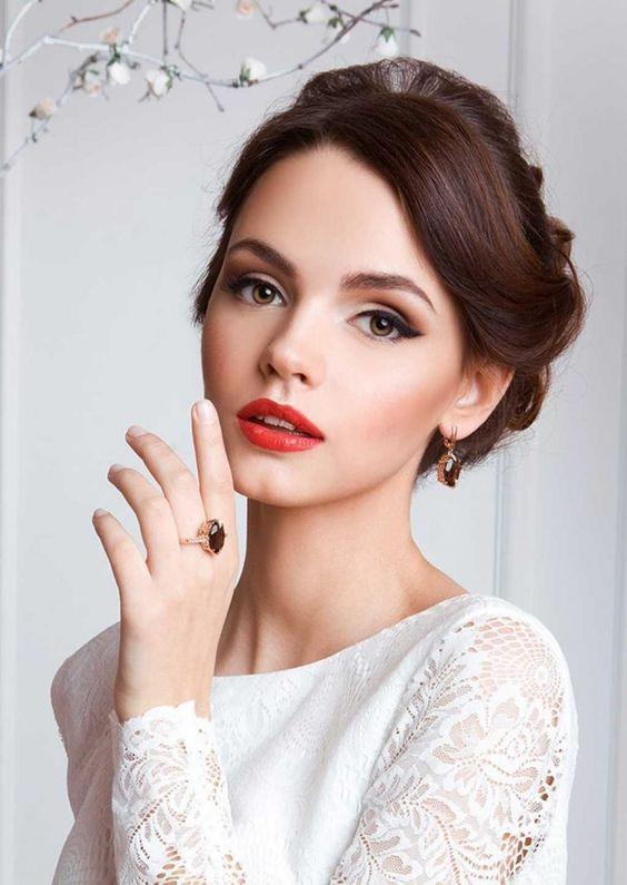 آرایش ساده عروس