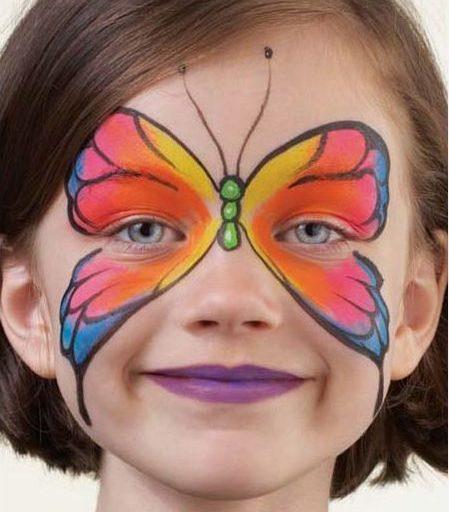 مدل پروانه گریم کودک