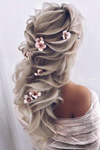مدل شینیون مو با گل