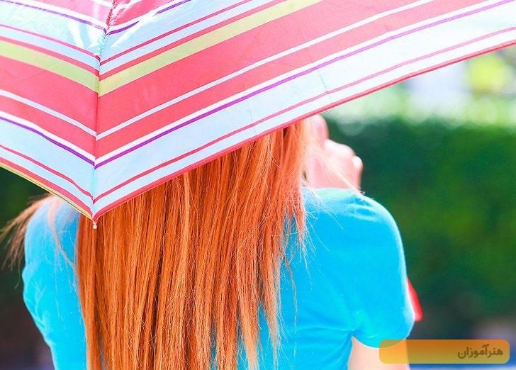 چتر برای محافظت از مو