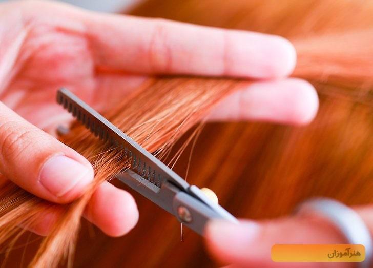 کوتاه کردن مو با قیچی