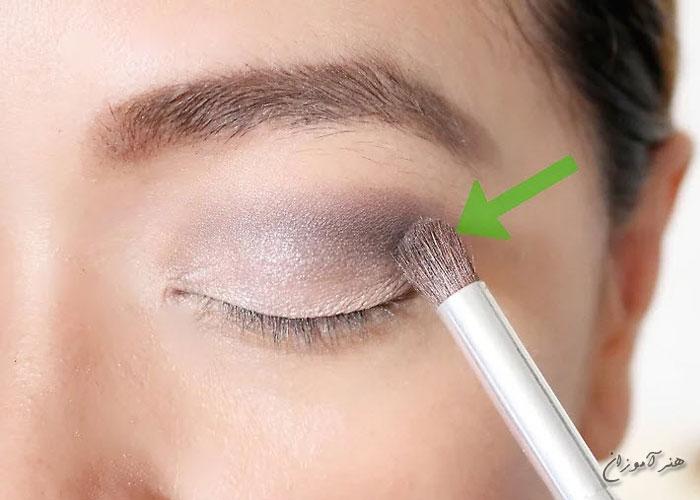 قلمو بر روی چشم