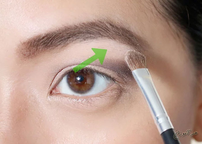 قلمو بر روی چشم قهوه ای