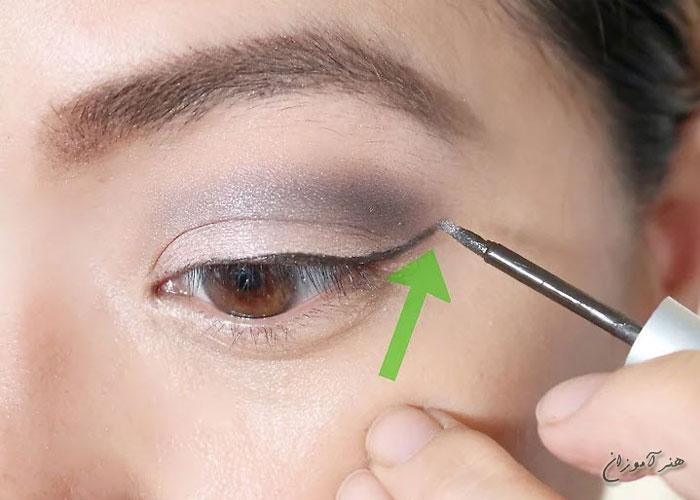 خط چشم قهوه ای